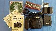 Canon EOS 7D Mark II 20.2 MP Digital SLR Camera w/ 2 Batteries and 16GB Mem Card