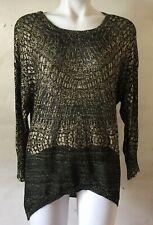 CUSTO BARCELONA Dar Gold Viscose Long Sleeve Top Size S NWT