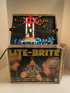 Vintage 1981 HASBRO Lite Brite Toy With Guides, Pegs, Instructions Original Box