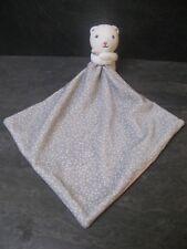 doudou chat ours blanc gris rose pois obaibi