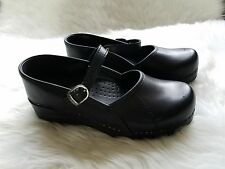 Dansko Womens Mary Jane Black Shoes Size 37 Clogs US 6.5-7