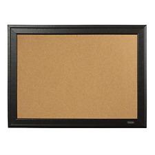 "Cork Bulletin Board Black Frame For Small Home Office Use Memories Decor 11""x17"""