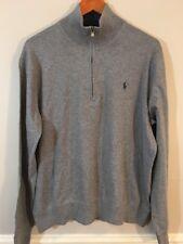 Ralph Lauren Polo Mens French Rib Half Zip MockNeck Pullover Sweater LARGE $98