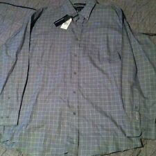 NWT Greg Norman Button Down Shirt XL Polo Sport Grey Striped Colorblock Sailing