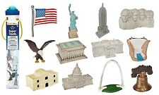 USA TOY ASSORTMENT by Safari Ltd/ white house/statue of liberty/bell/ flag/
