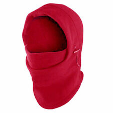 Red Outdoor Thermal Fleece 6 in 1 Balaclava Hood Face Snowboarding Ski Mask
