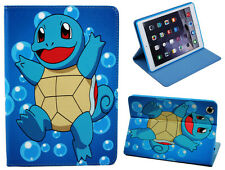 For Apple iPad 2 3 4 Happy Pokemon Pikachu Squirtle Stand Case Cover Sleep-Wake