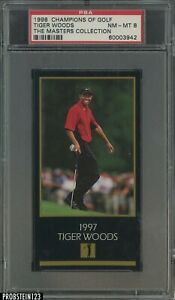 1998 Champions Of Golf The Masters Collection Tiger Woods RC Rookie PSA 8