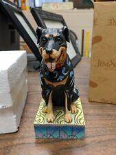"New ListingEnesco Jim Shore Heartwood Creek ""Roddie"" a Rottweiler Item 4009744 with box"