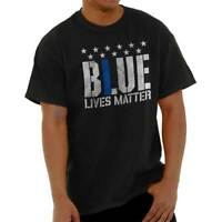 Vintage Blue Lives Matter Support Thin Blue Line Police Classic T Shirt Tee