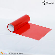 30 x 120cm Red Smoke Headlight Tinting Film Fog Tail Lights Tint Car Vinyl Wrap