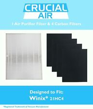 Replacements 1 Winix 115115 Filter + 4 Carbon Filters Size 21 Part # WAC5300