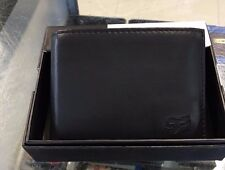 "FOX RACING MENS ADULTS LEATHER WALLET ""CORE"" BI-FOLD IN BLACK CLASSIC FOX HEAD"