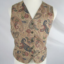Liz Claiborne Liz Wear Ladies Tailored Vest Paisley Pattern