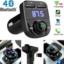 Wireless Bluetooth Hands free Car Kit FM Transmitter MP3 Player Dual USB Charger