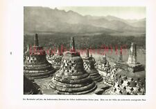 Borobudur of Java, Buddist monument, Indonesia, Photo Book Illustration 1935
