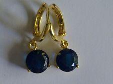 Leverback Drop/Dangle Sapphire Fine Earrings