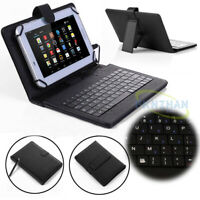 "For 9.7"" 10"" 10.1"" inch Tablet PU Leather Printed Stand Case Cover + Keyboard"