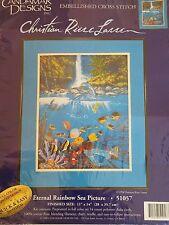 Eternal Rainbow Sea Picture CANDAMAR DESIGNS Cross Stitch Kit 51057 Unopened