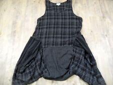 M.P. by Style schönes kariertes Hängerchenkleid schwarz grau Gr. 1 TOP 1017
