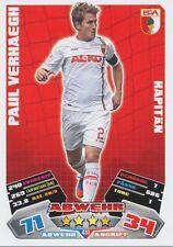 PAUL VERHAEGH # NETHERLANDS FC.AUGSBURG CARD MATCH ATTAX BUNDESLIGA 2013