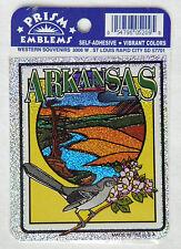 ARKANSAS Prism Emblems Self Adhesive Decal Sourvenir AR Mockingbird Ozarks NIP