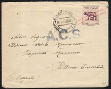 STORIA POSTALE LUOGOTENENZA 1944 Lettera da Roma a Pollena Trocchia (FILo)