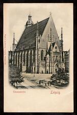 c1900 D.R.G.M. bas relief Thomaskirche Leipzig Germany church postcard