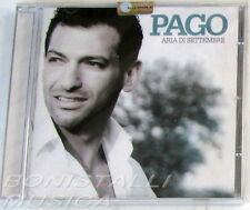 PAGO - ARIA DI SETTEMBRE - CD Sigillato