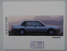 Volvo 940 brochure 1991 featuring GLE 16v, Turbo Diesel and Turbo petrol models.