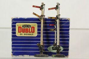 Vintage Hornby Dublo D2 Signals Double Arm Home & Distant Boxed Upper 32131