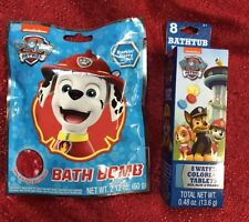 Set Of 2 Paw Patrol Both Bomb & Bathtub Fizzies Kids Bath Bomb Set