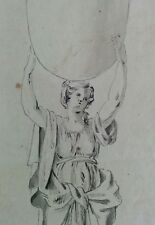 18th century French School OLD MASTER DRAWING - 'Atlas / Pléiade' (?) - QUALITY