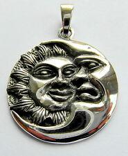 Plata Esterlina (925). Sol Y Luna Colgante (6.3 gramos)!!! Nuevo!!!