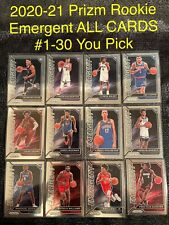 2020-21 PANINI PRIZM EMERGENT ROOKIE Card # 1-30 Complete Your Set You Pick 2020