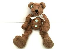 "Aviation Theme Plush Doll 10/"" Vintage Pilot Teddy Chabby JR Brown Bear"