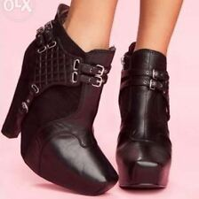 Black Harness Booties ala Jeffrey Campbell