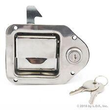 "Toolbox Lock Stainless Door Key Latch Paddle Handle RV Trailer 4-3/8"" x 3-1/4"""