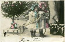 Carte Joyeux Noël Les enfants et la luge