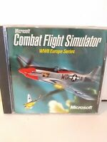 Microsoft Combat Flight Simulator WWII Europe Series PC Computer Game FREE Ship