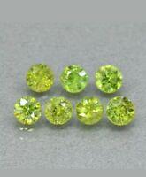 Granate demantoide lote 7 unidades 2.22 ct redondo  verde amarillento  natural
