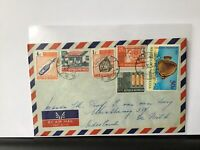 Indonesia 1972 multi stamps airmail stamps cover Ref R25826