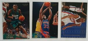 Lot de 3 Cartes Basketball NBA Grant Hill Detroit Pistons Fleer