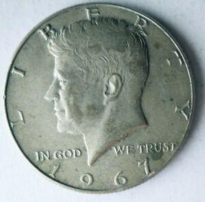 1967 UNITED STATES HALF DOLLAR - KENNEDY SILVER COIN - Lot #L23