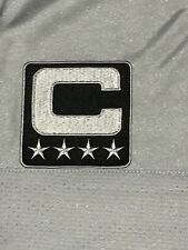 OAKLAND RAIDERS SILVER & BLACK CAPTAINS JERSEY PATCH (3 INCH) SEW / IRON ON NEW!