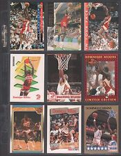 DOMINIQUE WILKINS ~Lot of (9) Different Basketball Cards w/ Display Sheet~ L347