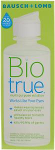 BioTrue Contact Lens Solution for Soft Contact Lenses, Multi-Purpose, 4 Ounces