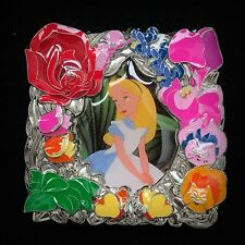LE 500 Alice In Wonderland Floral Flower Frame Disney Store 2017 Park Pack 1 Pin
