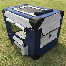 PUPPY POWER PORTABLE PET HOME, COLLAPSIBLE DOG KENNEL, SOFT CRATE - GIANT 122CM