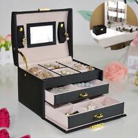 Schmuckkasten Schmuckkoffer Schmuckkästchen Kosmetikkoffer Aufbewahrungsbox DE
